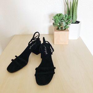 FREE PEOPLE gabby block heel in black